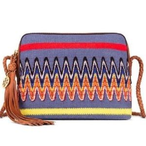 Tory Burch Embroidered Taylor Canvas Cross Body